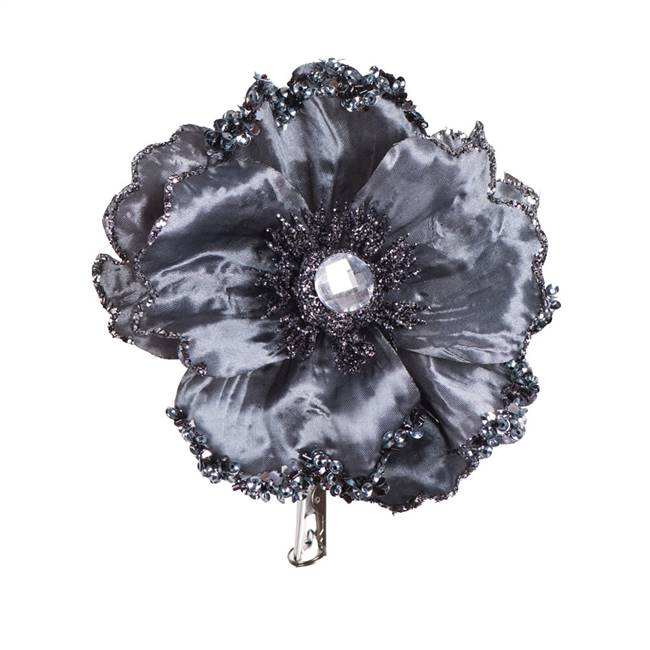 "5"" Pewter Wild Poppy Head Clip 3/Bag"