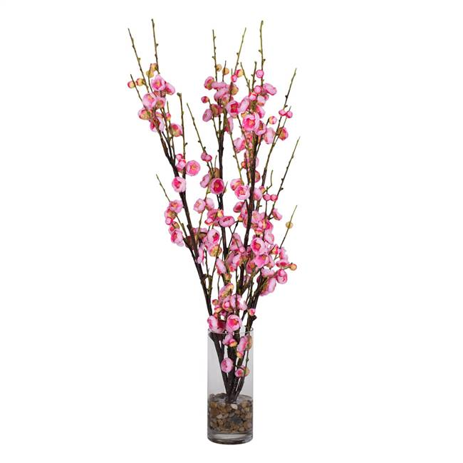 "35"" Pink Cherry Blossom in Cyclinder"