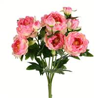 "19"" Light Pink Peony Bush 9 Blooms"