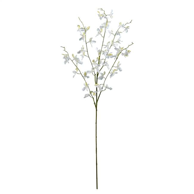 "35"" Mini White Dancing Orchid Spray 3/Pk"