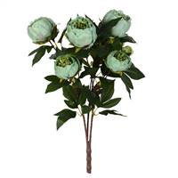 "23"" Green Peony Bush with 6 Flowers"