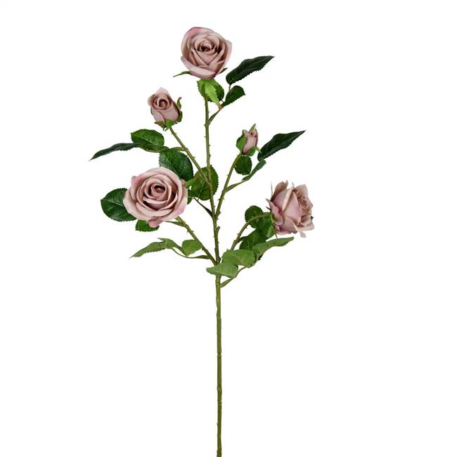 "28"" Dusty Gray Rose Spray (3/pk)"