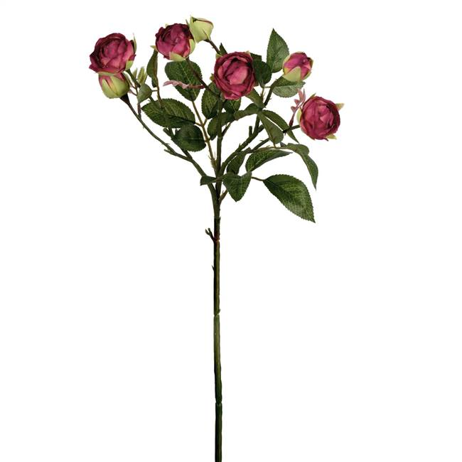 "20.5"" Purple Tea Rose Spray (3/pk)"