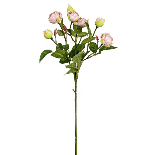 "20.5"" Grey Tea Rose Spray (3/pk)"