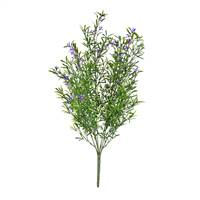 "21"" Purple Flowers Green Velvet Bush UV"