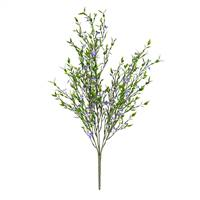 "22"" Mini Purple Flowers Green Bush UV"