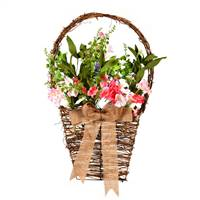 "20"" Pink/White Flower Basket"