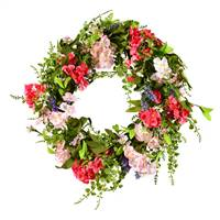 "22"" Pink/White Floral Wreath"