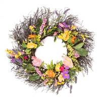 "24"" Bright Mixed Floral Wreath"