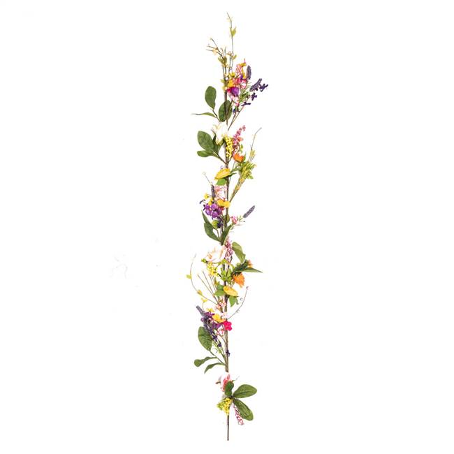 "60""  Bright Mixed Floral Garland"