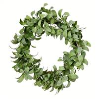 "22"" Lamb Ear Leaf Wreath"