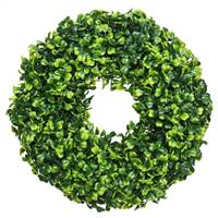 "10"" Mini Button Leaf Wreath"