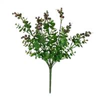"14.5"" Purple Berry Money Leaf Bush Pk/2"