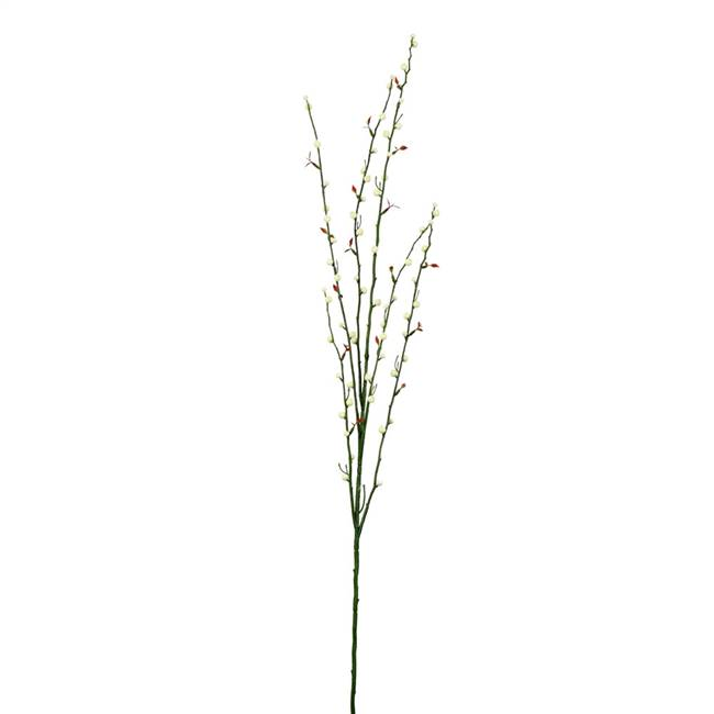 "46"" Cream Fruit Spray Branch 3/Pk"