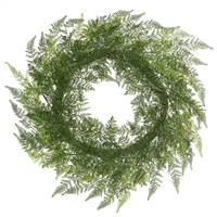 "30"" Green Lace Fern Wreath"