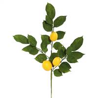 "20"" Green Salal Leaf Lemon Spray 4/Pk"
