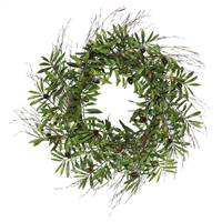 "24"" Green Olive Leaf Wreath"