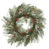 "30"" Green Brazil Berry/Leaf Wreath"