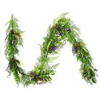 6' Green/Purple Maytime Garland