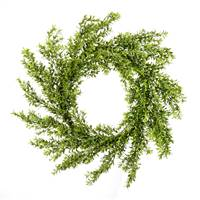 "30"" Green Boxwood Moderne Wreath"