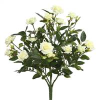 "15"" White Mini Diamond Rose Bush"