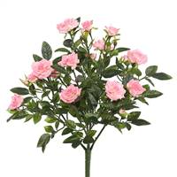 "15"" Light Pink Mini Diamond Rose Bush"