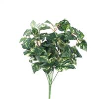"17"" Pothos Leaf Bush X 9-Green/Cream"