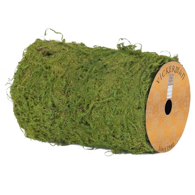 "6""X30"" Moss Ribbon  Roll-Green"