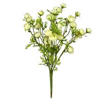"18"" Light Green Ranunculus Bush"