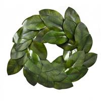 "22"" Green Magnolia Leaf Wreath"