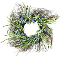 "24"" Purple Daisy Grass Wreath"