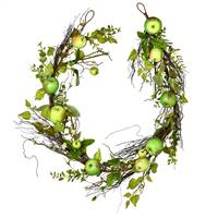 "68"" Green Apples Mixed Twig Garland"