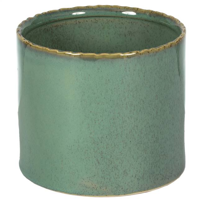 "4.25"" Pine Green Ceramic Pot"