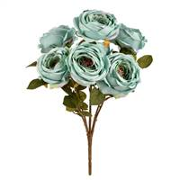 "17.5"" Powder Blue Rose Bush"