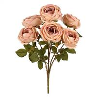 "17.5"" Taupe Rose Bush"