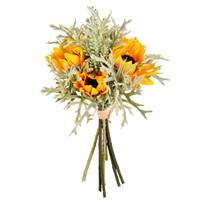 "14"" Yellow Sunflower Succulent Bouquet"