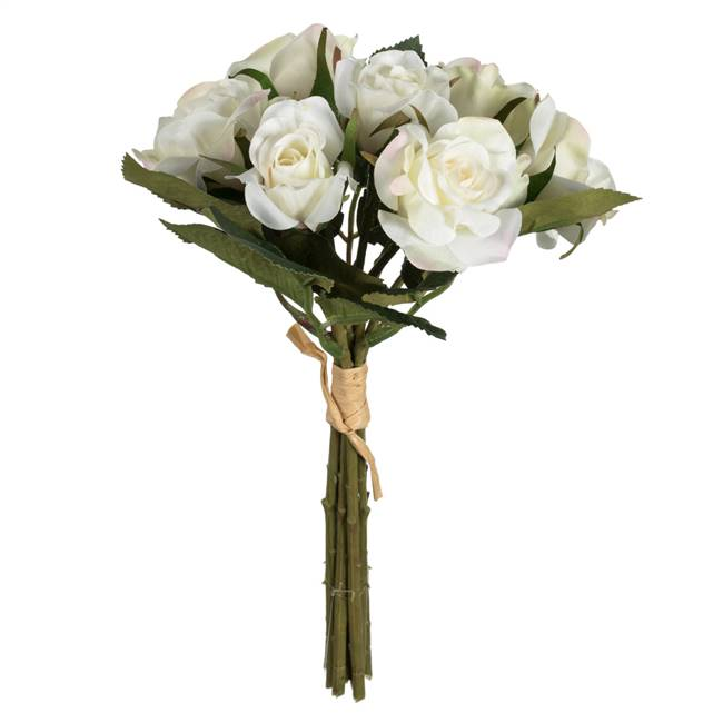 "10"" White Rose Bundle Pk/3"