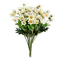 "14.5"" White Wild Daisy Bush Pk/3"