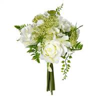 12'' White Rose Bouquet 2/Pk