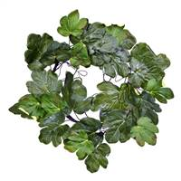 "24"" Green Fig Leaf Wreath"