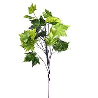 "51"" Green Platanus Leaf Branch"