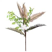 "19"" Green Fern Cotton Spray Pk/3"