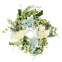 "24"" Green Hydrangea Berry Wreath"
