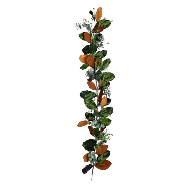 "72"" Green Magnolia Leaf Garland"