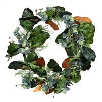 "30"" Green Magnolia Leaf Wreath"