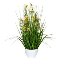 "22.5"" Yellow Potted Cosmos Grass"