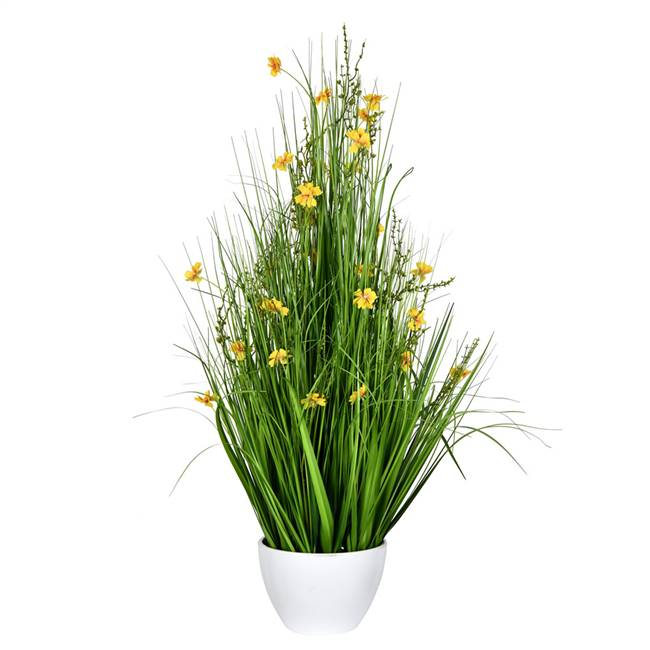 "42"" Yellow Potted Cosmos Grass"