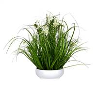 "21"" Cream Potted Cosmos Grass"