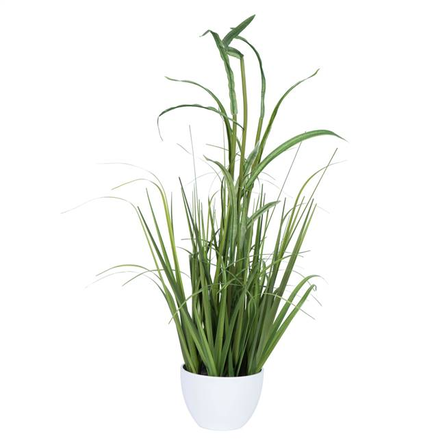"32"" Green Potted Bamboo Grass"