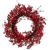 "28"" Red Berry Wreath Outdoor"
